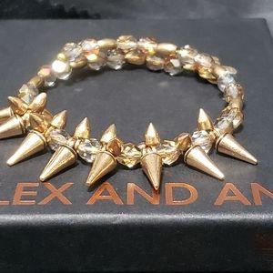 Alex & Ani Vintage 66 Gold Spike/Crystal W…